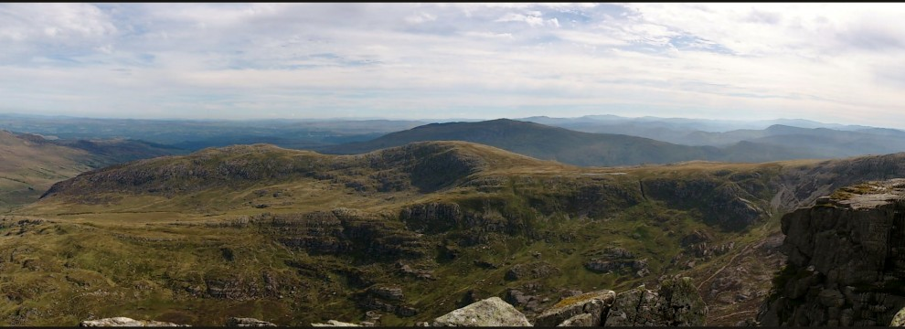 The ridges of Snowdonia