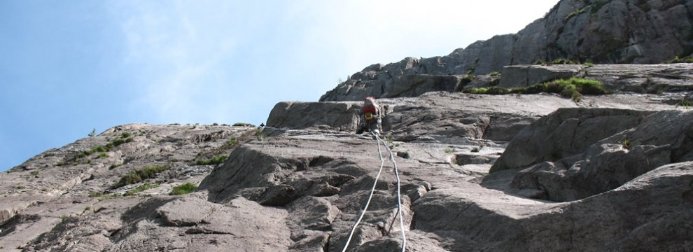 Lead Climbing, Idwall Slabs, Wales