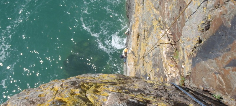 Pel (VS 4c), Castell Helen, Gogarth, Isle of Angelsey