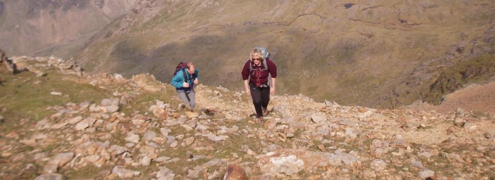 Finally heading for the ridge of Crib y Ddysgl and the summit of Garnedd Ugain