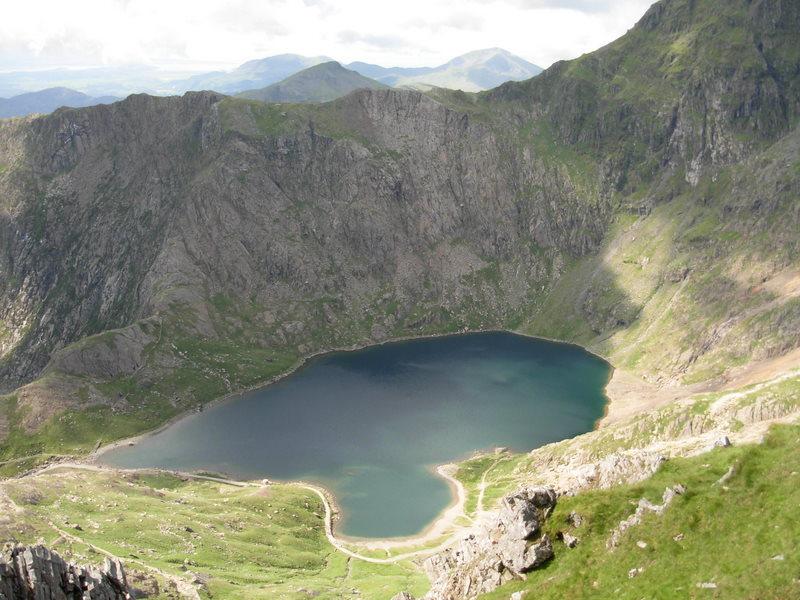 The stunning upper lake of Glaslyn, Snowdon Range