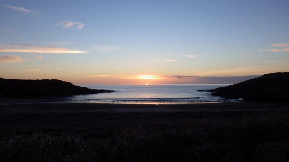 Sunset at Porth Trecastell