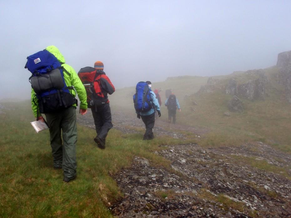 Navigating in poor visibility - Snowdonia North Wales