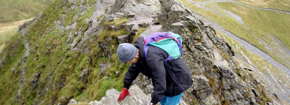 The classic Sharp Edge on Blencathra - Lake District