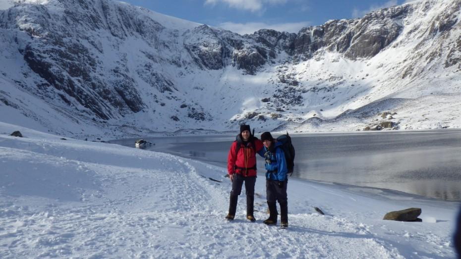 Winter skills and Walking Cwm Idwal Snowdonia