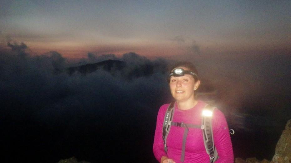At the start of the Crib Goch ridge before sunrise