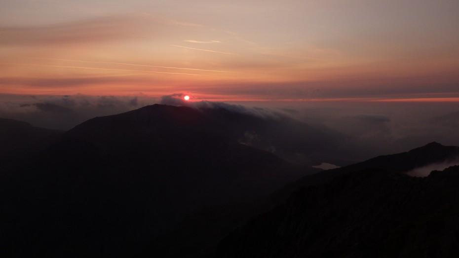 Sunrise over Snowdonia
