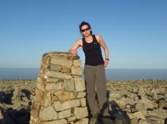 Foel Fras the last summit where kathy was still looking fresh!