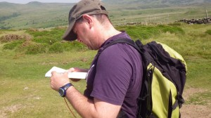 Jon developing his navigation skills in Snowdonia