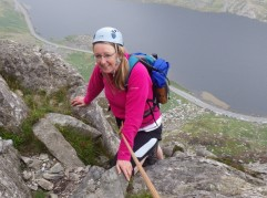 Ruth on The North Ridge of Tryfan