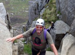 The Top of Nor Nor Gully on the  East face of Tryfan