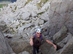 The final steps on the North Ridge of Tryfan