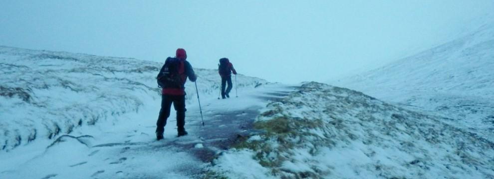 The long walk in to castle Ridge