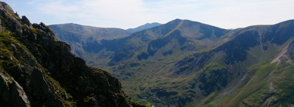 Ogwen Valley looking across to Y Garn