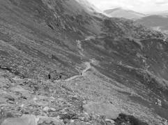 On the Pyg track, Snowdon Splendid  views down onto the valley