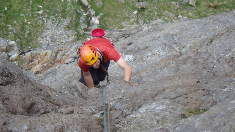 Some fine moves on Western slabs Dinas Mot Snowdonia