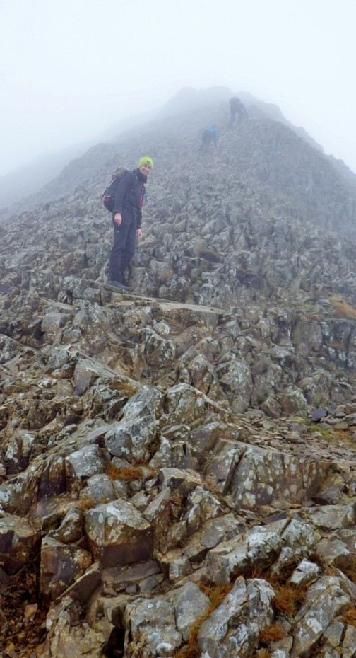After the technical sections on the South ridge of Crib Goch