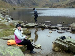A great place for a lunch break at Llyn Idwal