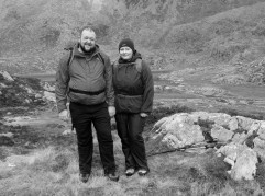 Lindsey and Dylan enjoying the beautiful views in Cwm Lloer