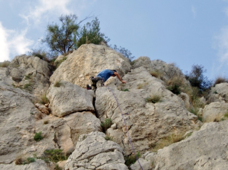 Climbing in the sun on easy sports routes really warms you up for the UK summer