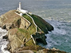 A great view down to the light house at South Stack.