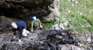 Grade 2 rock scrambling in Idwal valley