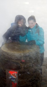 The weather never let up on top of Snowdon