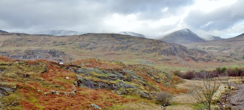 Beautiful views across the Snowdonia range