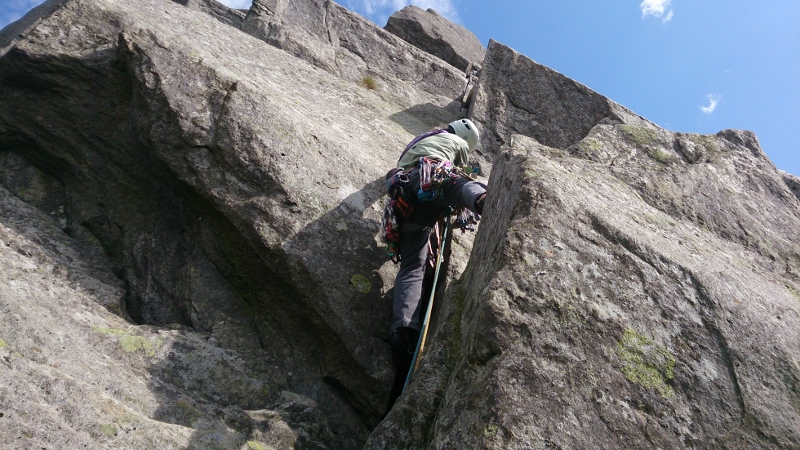 Rock climbing in Snowdonia, Milestone Buttress