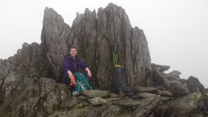 Welsh 3000s 14 peaks The summit of Glyder Fawr at the start of the Glyder plateau
