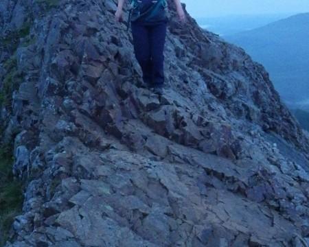 Welsh 3000s 14 peaks Walking the sharp ridge of Crib Goch