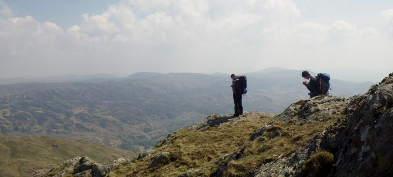 Wild camping with beautiful views across Snowdonia