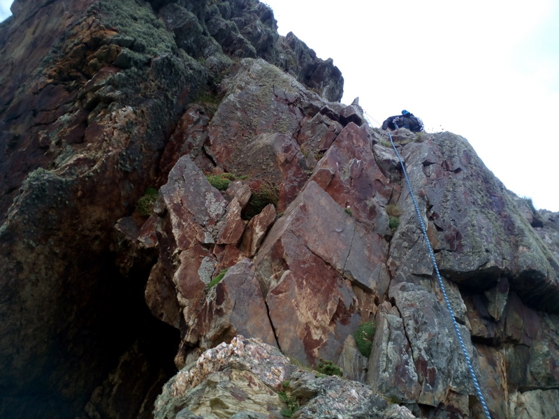 The upper pitches of Light house Arete