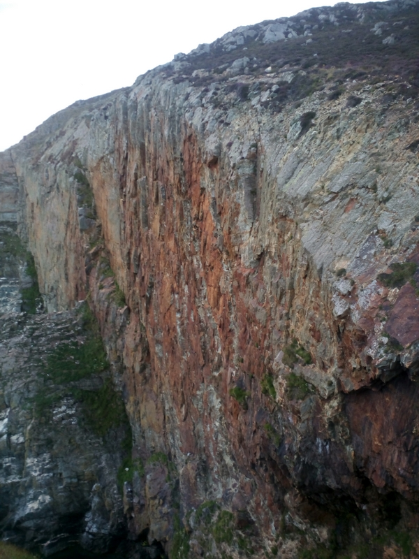 The steep area of Red Wall