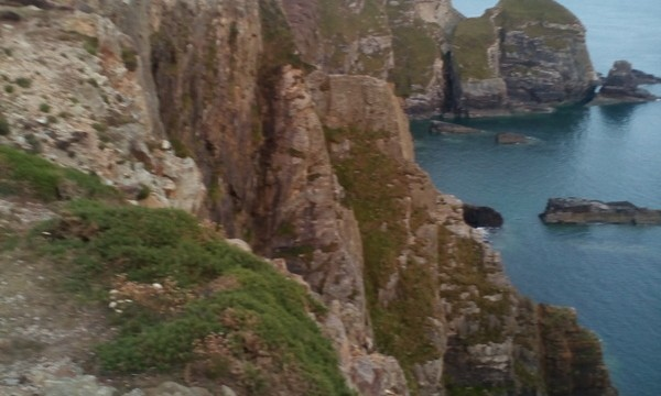 excellent views down the cliffs