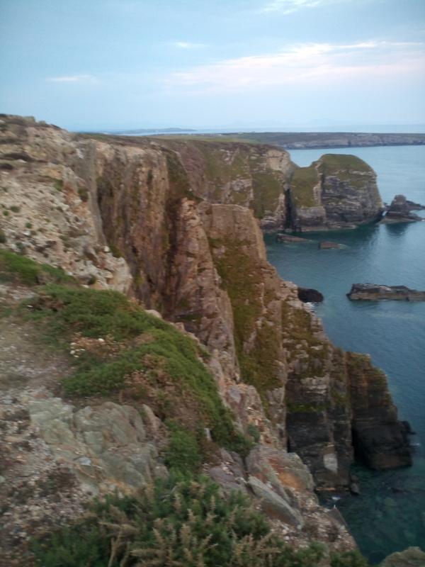 excellent views down the cliffs