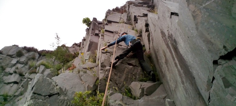 Just over the crux
