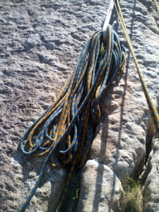 Teaching Multi-pitch rock climbing This keep the rope of your way and your seconds