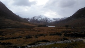 Y Garn looking from the the Ogwen valley in Snowdonia