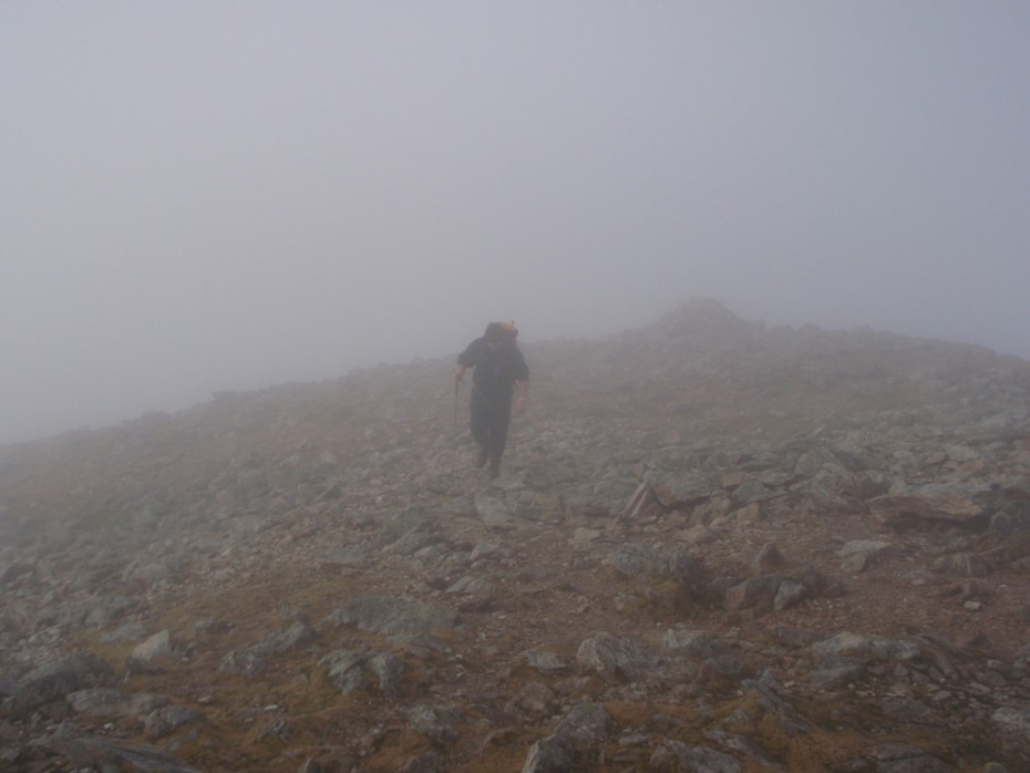 The mountains require good navigations skills in bad weather