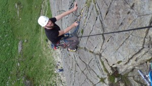 Trad rock climbing learning rope techniques