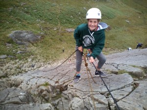 Abseiling on Tryfan Bach