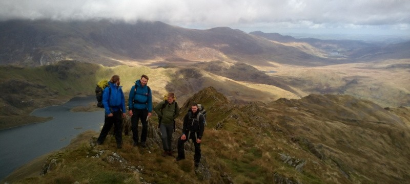 Mountain leader Assessment on Lliwedd during the multi day wild camp