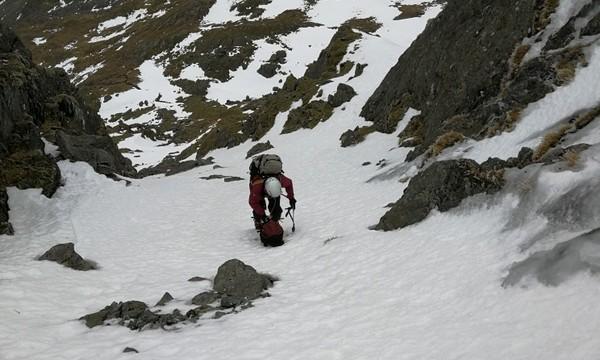 Descending back down into Cwm Cneifion