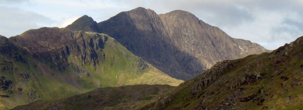 The great cliffs of Lliwedd in Snowdonia