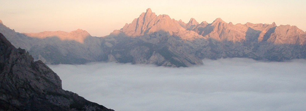 evening above the clouds, Picos de Europa, Northern Spain