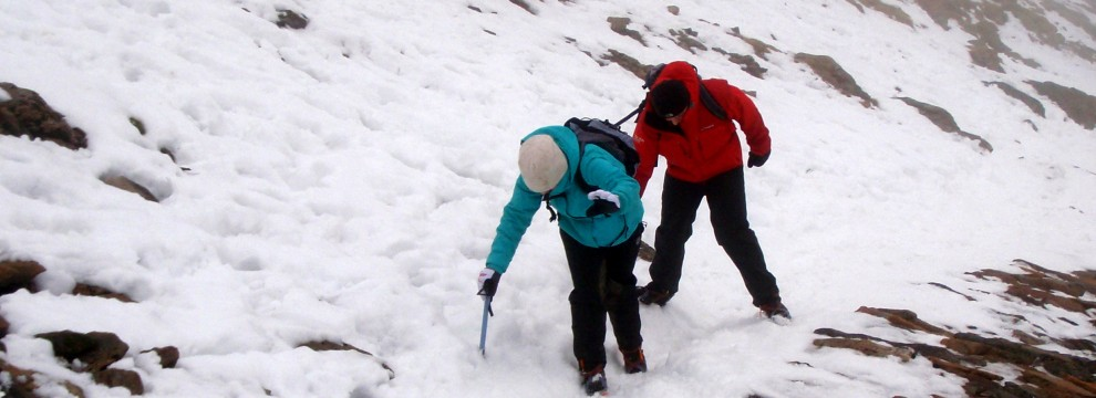 Winter Walking and Winter Skills, Snowdon