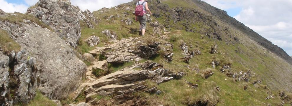Heading towards the summit of Snowdon