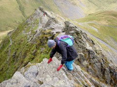 The classic Sharp Edge on Blencathra - Lake District