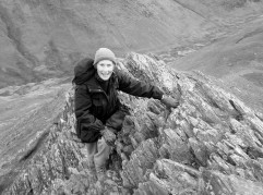 Enjoying Sharp Edge on Blencathra - Lake District